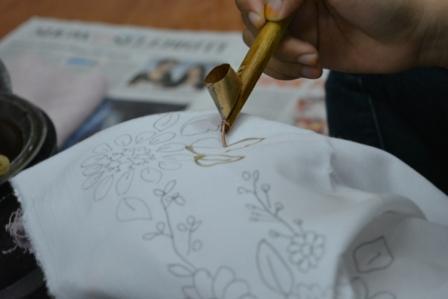 #Mahasiswamanis belajar Batik