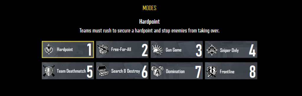 jenis mode multiplayer call of duty mobile