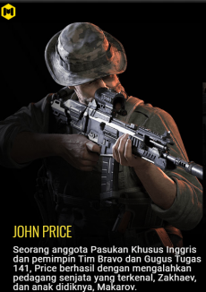 karakter call of duty mobile  john price